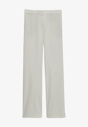 MIT SCHLAG  - Pantalon classique - white