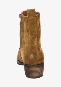 Nelson - Cowboy/biker ankle boot - cognac - 1