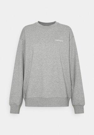 SCRIPT   - Bluza - grey heather/white