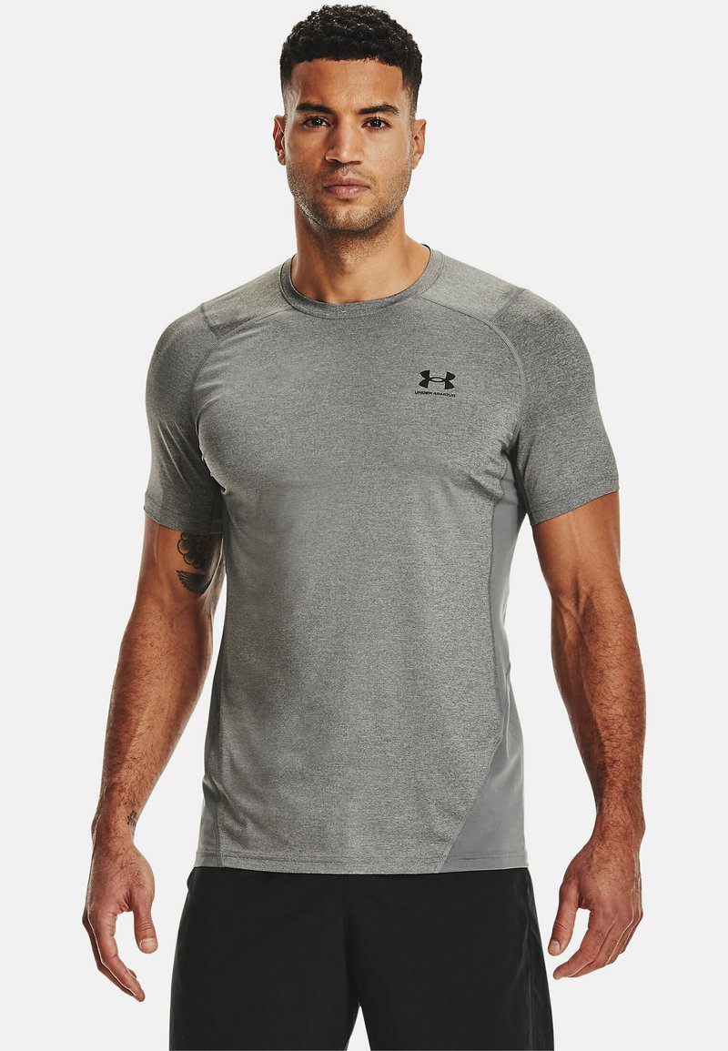 Under Armour - ARMOUR FITTED - T-shirt med print - carbon heather