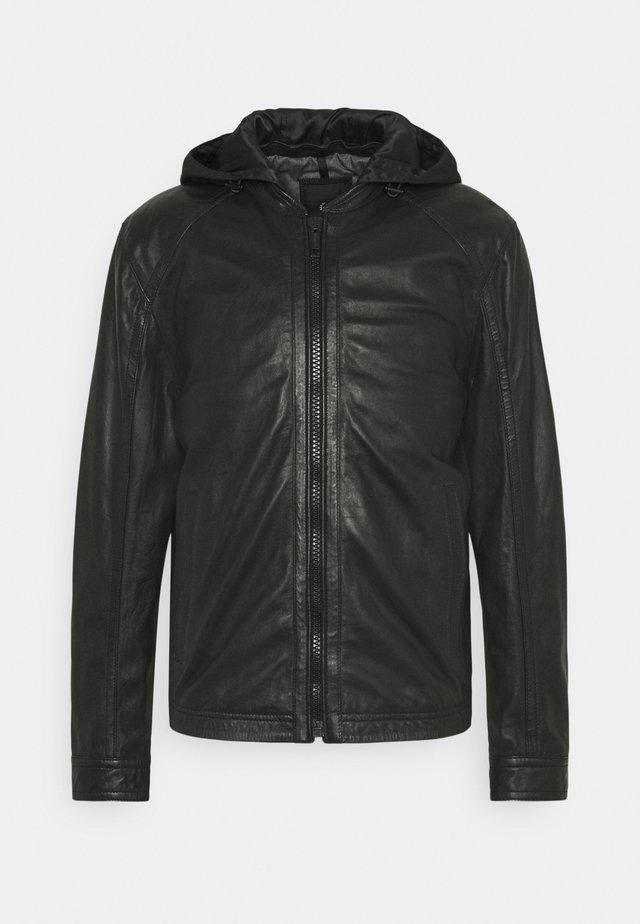 FANE - Leather jacket - black