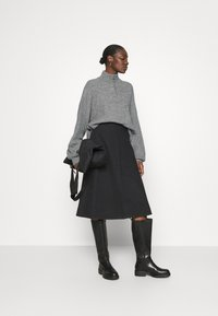 Zign - Half zip jumper - Strickpullover - mid grey - 1