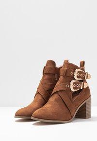 Miss Selfridge - CUT OUT - Ankle boots - tan - 4