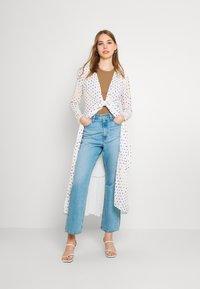 Never Fully Dressed - RAINBOW SPOT WRAP DRESS - Vestido informal - white - 1