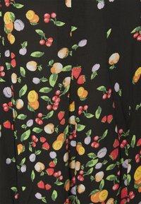 Simply Be - SKIRT WITH SIDE SPLIT - A-line skirt - black fruit print - 5