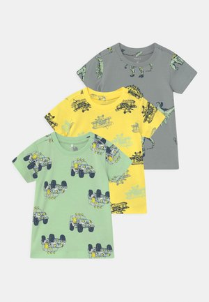 NBMSAZUE 3 PACK - T-shirt con stampa - pastel green