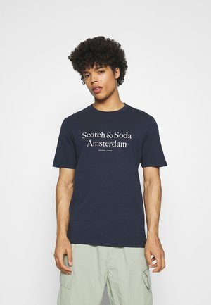 ARTWORK TEE - Print T-shirt - navy