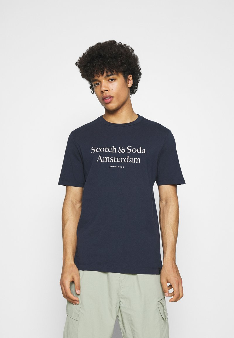 Scotch & Soda - ARTWORK TEE - T-shirt print - navy