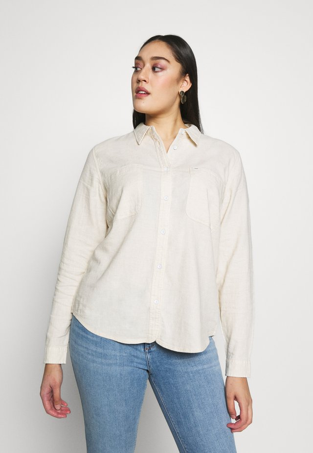 POCKET WORKER SHIRT - Button-down blouse - ecru