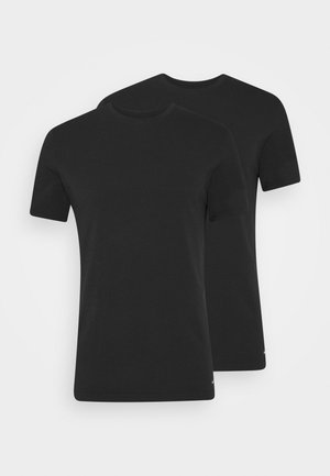 CREW NECK 2 PACK - Undershirt - black