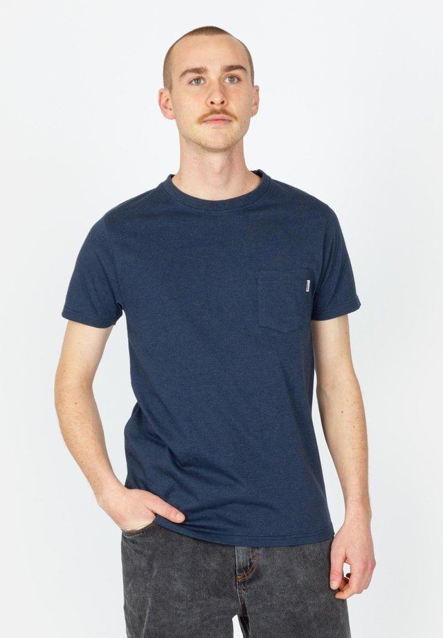 BLAKE - T-shirt basic - navy blue melange