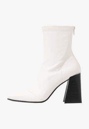 HAMMOND SOCK BOOT - High heeled ankle boots - buttermilk