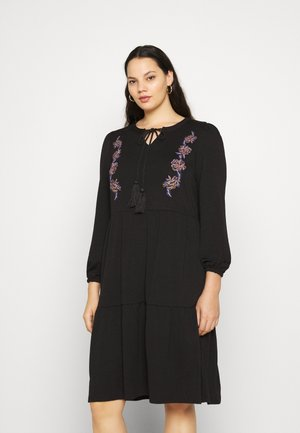 JRADINA BELOW KNEE DRESS - Hverdagskjoler - black