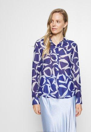 CRESCENT BLOOM  - Button-down blouse - crisp blue