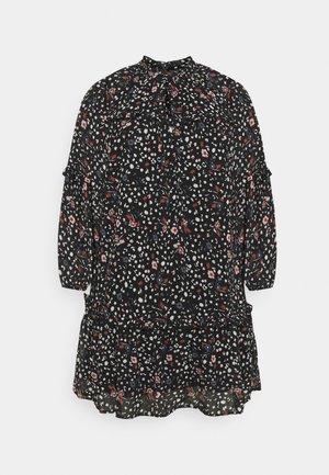 VMMILLE FRILL SHORT DRESS - Kjole - black/navy