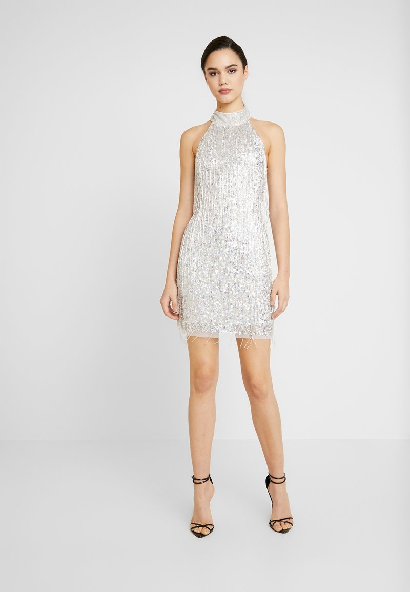 Lace & Beads - NADIA MINI - Cocktail dress / Party dress - silver