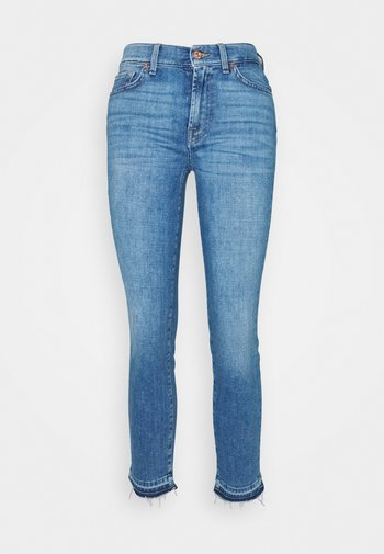 ROXANNE ANKLE UNROLLED - Slim fit jeans - grove