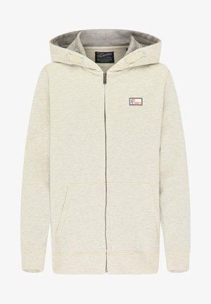 Zip-up hoodie - antique white melee