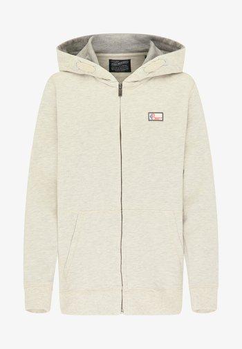 Zip-up sweatshirt - antique white melee