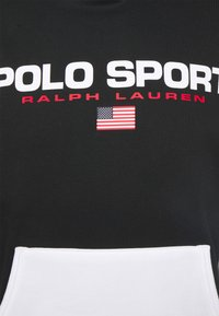 Polo Sport Ralph Lauren - HOOD LONG SLEEVE - Sweatshirt - black/white - 2