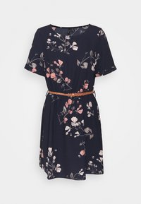 Vero Moda - VMANNIE BELT SHORT DRESS - Vestito estivo - night sky - 0