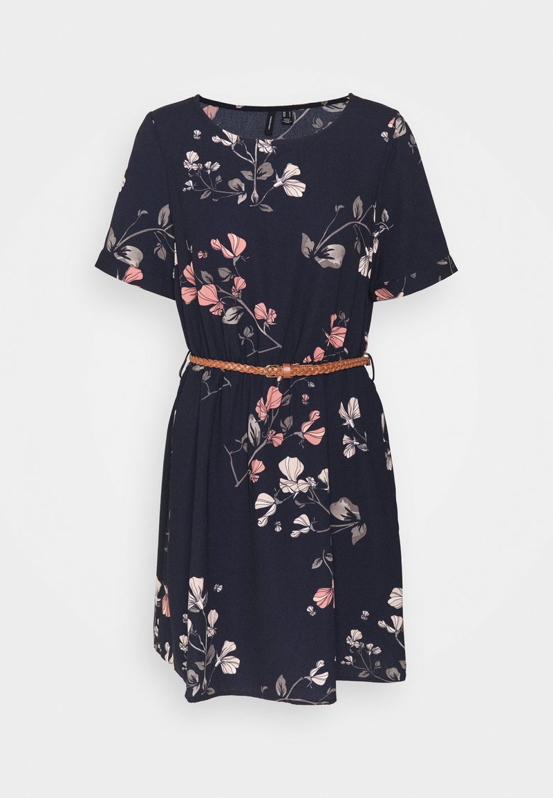 Vero Moda - VMANNIE BELT SHORT DRESS - Day dress - night sky