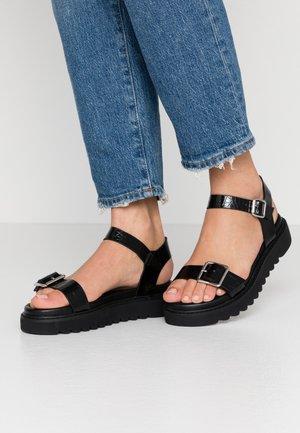 ONLMALU CHUNKY  - Platform sandals - black