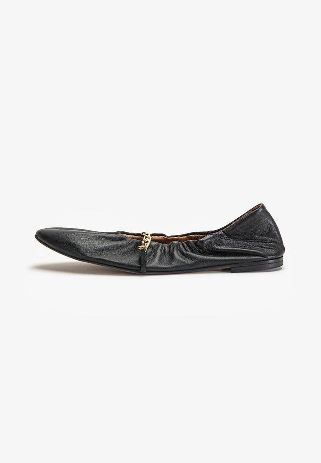 Foldable ballet pumps - black blk