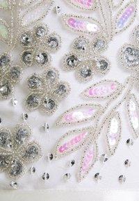Maya Deluxe - EMBELLISHED BOW BACK DRESS - Společenské šaty - white - 7