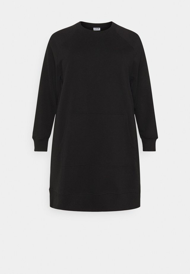NMLUPA KANGAROO DRESS - Vapaa-ajan mekko - black