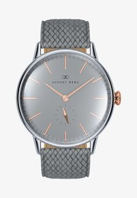 August Berg - UHR SERENITY NORDIC GRANITE L GREY PERLON 40MM - Watch - cool grey - 0