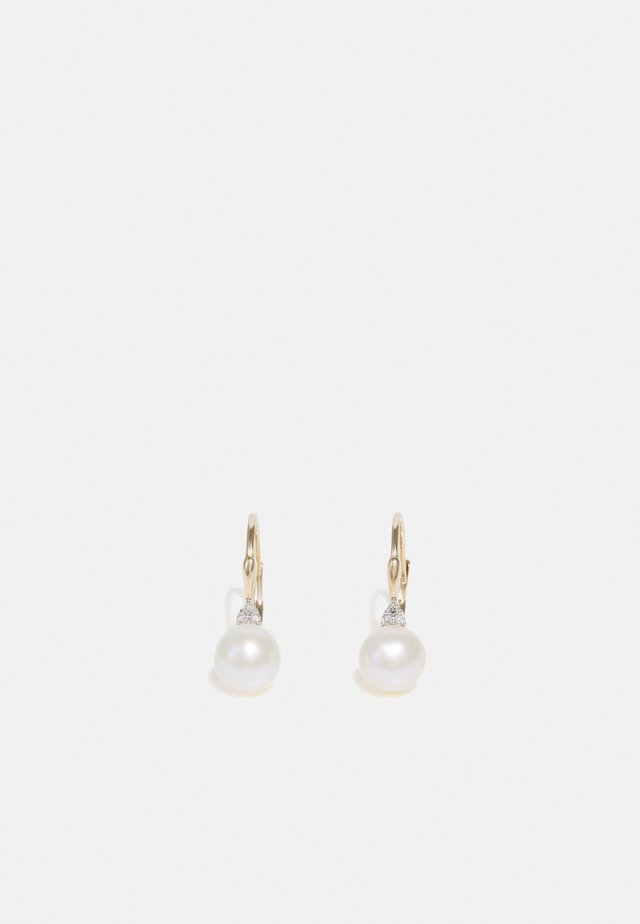 NATURAL DIAMOND EARRINGS CARAT PEARL SOLITAIRE DIAMOND EARRINGS KT DIAMOND JEWELLERY GIFTS FOR WOMENS - Orecchini - gold
