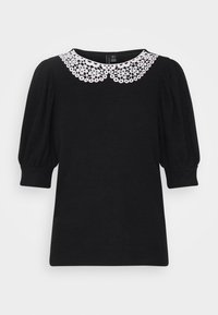 Vero Moda - VMTAMIRA COLLAR - T-shirt con stampa - black/snow white - 0