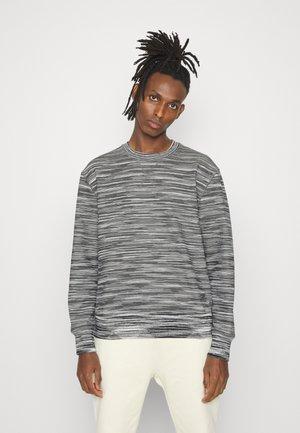 CREWNECK  - Sweatshirt - felpa fiammata nero bianco