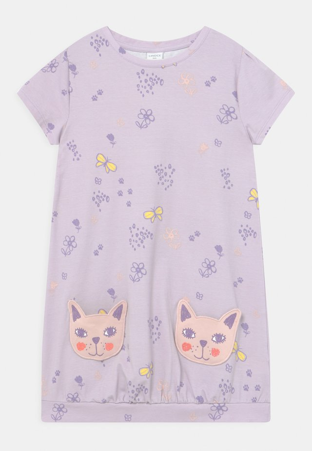 MINI CAT POCKETS - Jerseykleid - light lilac