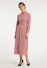 usha - Shirt dress - dunkelrosa - 1