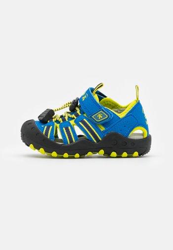 CRAB UNISEX - Walking sandals - blue/lemon