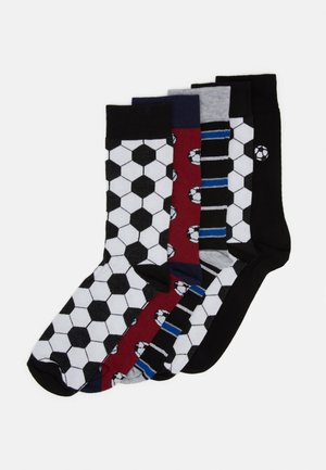 FOOTBALL DESIGN 5 PACK - Socken - black