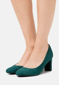 Dorothy Perkins Wide Fit - WIDE FIT DENVER ROUND TOE - Classic heels - teal - 0
