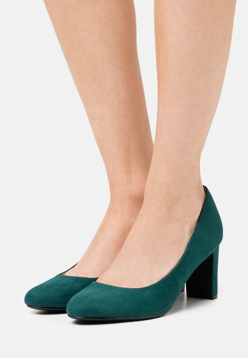 Dorothy Perkins Wide Fit - WIDE FIT DENVER ROUND TOE - Classic heels - teal
