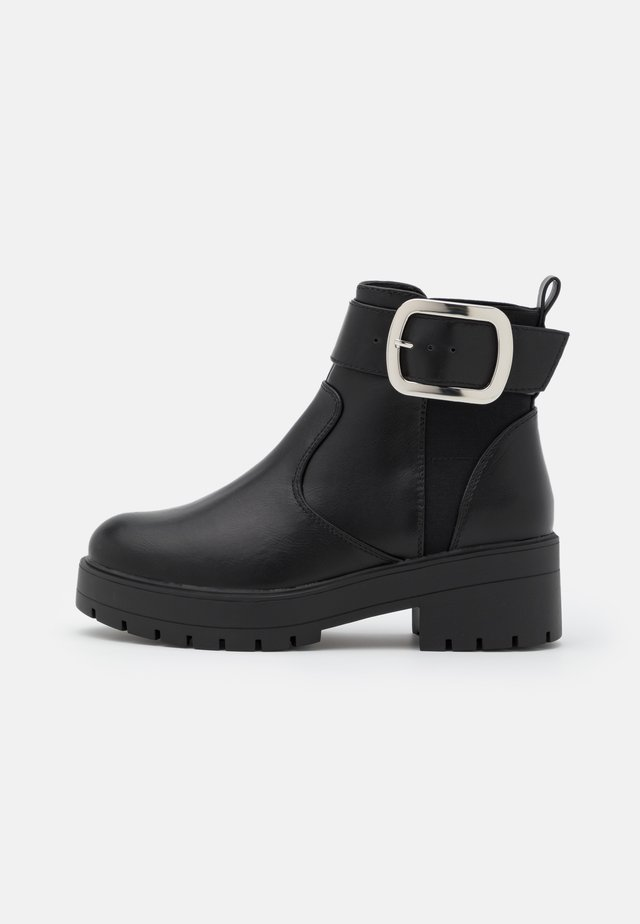 ONLBRANKA BUCKLE BOOT  - Bottines à plateau - black