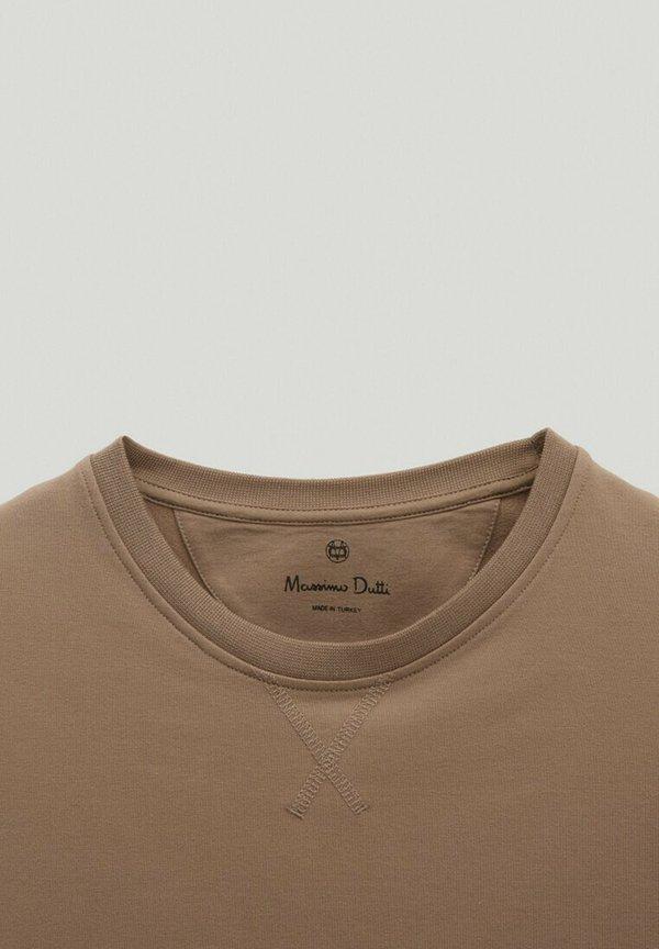 Massimo Dutti Bluza - brown/brązowy Odzież Męska WPSX