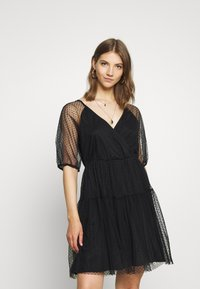 Vila - VIDANNA DRESS - Day dress - black - 0