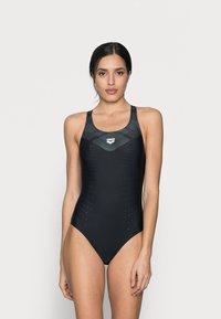 Arena - MIRRORED BACK ONE PIECE - Swimsuit - black - 0