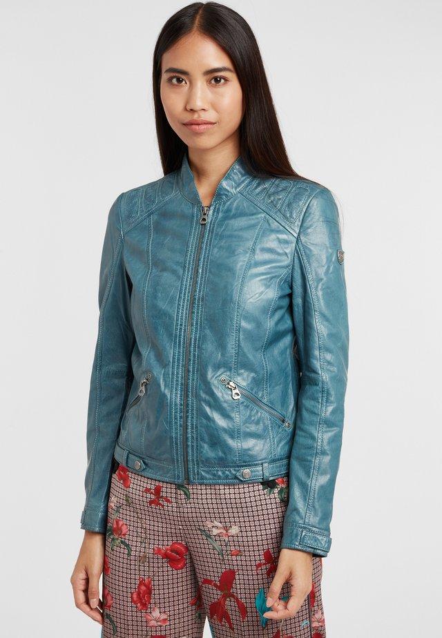 GGMIJA LAFLOV - Leren jas - denim blue