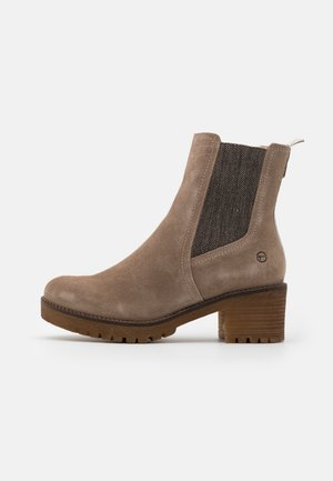 BOOTS - Platform ankle boots - taupe