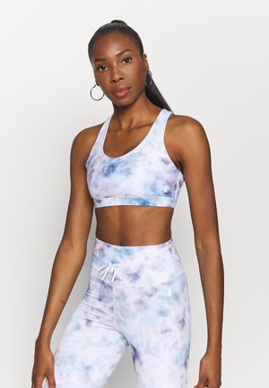SHEEN PRINT CROSS BACK BRA - Sports bra - cloud tie