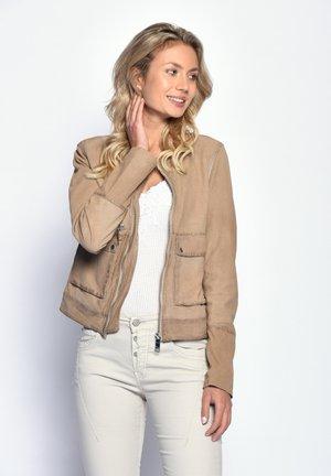 Leather jacket - creme