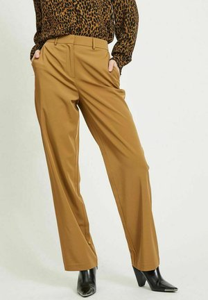 VISALLY TAILORED WIDE PANTS - Trousers - butternut