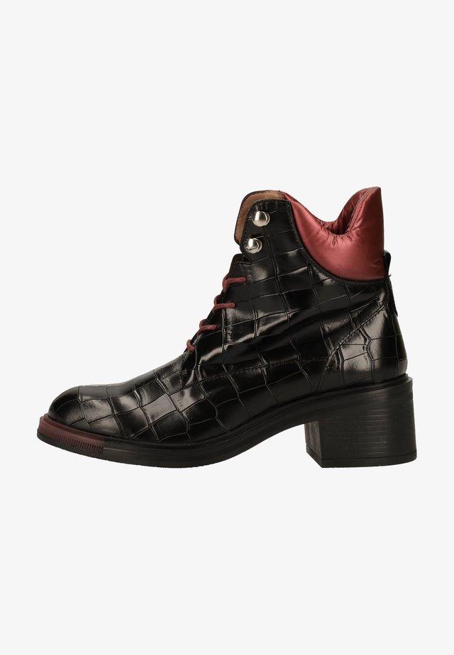 Veterboots - nero/rojo